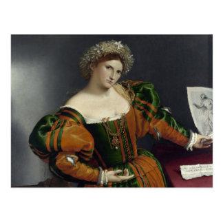 Retrato de una mujer inspirada por la postal de Lu