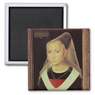 Retrato de una mujer joven, 1480 imán cuadrado