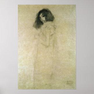 Retrato de una mujer joven, 1896-97 póster