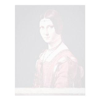 Retrato de una mujer joven (belleza Ferronière del Membretes Personalizados
