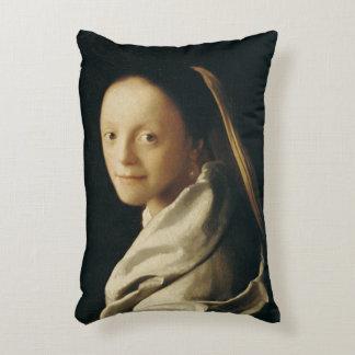 Retrato de una mujer joven, c.1663-65 cojín decorativo