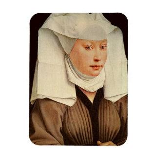 Retrato de una mujer joven en un gorra fijado, c.1 iman flexible