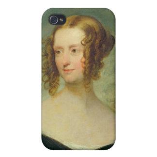 Retrato de una mujer joven iPhone 4 carcasas