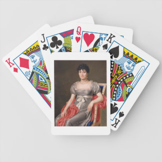 Retrato de una mujer joven Len de tres cuartos ase Baraja De Cartas