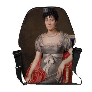 Retrato de una mujer joven Len de tres cuartos ase Bolsa Messenger