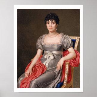 Retrato de una mujer joven Len de tres cuartos ase Póster