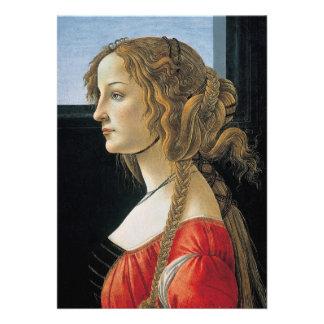 Retrato de una mujer joven por Botticelli Anuncios