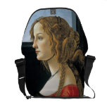 Retrato de una mujer joven por Botticelli Bolsa Messenger