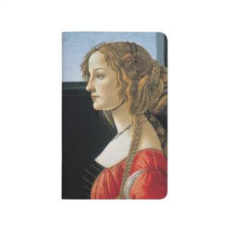Retrato de una mujer joven por Botticelli Cuaderno