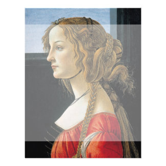 Retrato de una mujer joven por Botticelli Flyer Personalizado
