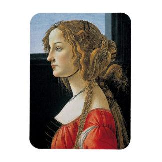 Retrato de una mujer joven por Botticelli Iman De Vinilo