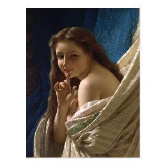 Retrato de una mujer joven por la choza de Pedro Postal