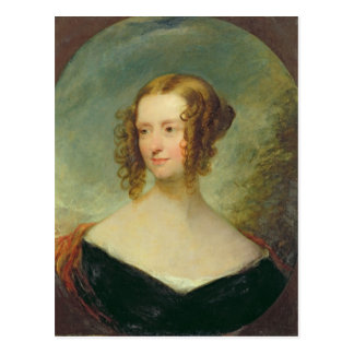 Retrato de una mujer joven postal