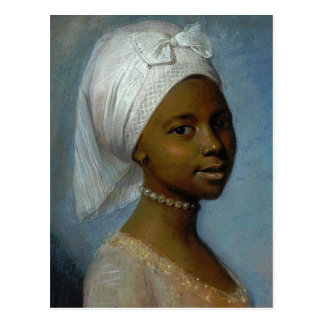 Retrato de una mujer joven postales