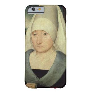 Retrato de una mujer mayor (aceite en el panel) funda para iPhone 6 barely there