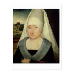 Retrato de una mujer mayor (aceite en el panel) postales