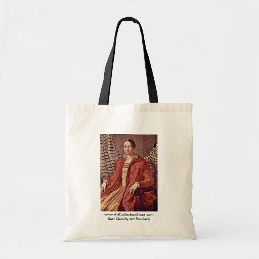 Retrato de una mujer noble   de Bronzino Ángel Bolsa Tela Barata