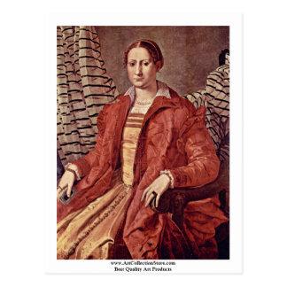 Retrato de una mujer noble   de Bronzino Ángel Tarjetas Postales
