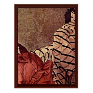 Retrato de una mujer noble tarjeta postal
