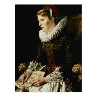 Retrato de una mujer noble postales