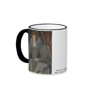 Retrato de una mujer noble taza a dos colores