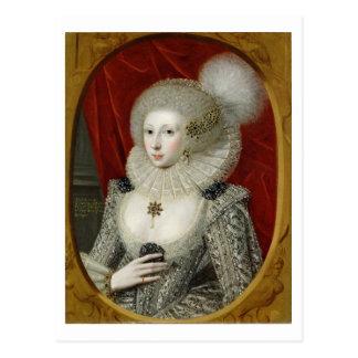 Retrato de una mujer, posiblemente algodón de tarjetas postales
