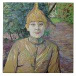 Retrato de una mujer, posiblemente el bailarín fra azulejo cuadrado grande