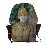 Retrato de una mujer, posiblemente el bailarín fra bolsas de mensajeria