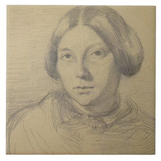 Retrato de una mujer, posiblemente George Sand (18 Azulejo Cuadrado Grande