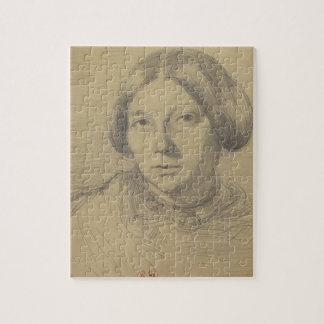 Retrato de una mujer, posiblemente George Sand (18 Puzzle