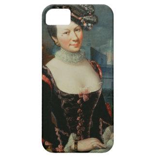 Retrato de una mujer que lleva a cabo una partitur iPhone 5 fundas