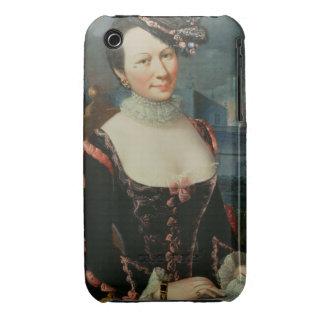 Retrato de una mujer que lleva a cabo una partitur Case-Mate iPhone 3 cárcasa