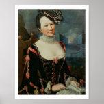 Retrato de una mujer que lleva a cabo una partitur impresiones