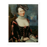 Retrato de una mujer que lleva a cabo una partitur tarjetas postales