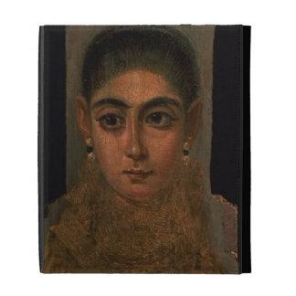 Retrato de una mujer que lleva un oro pectoral, tu