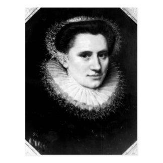 Retrato de una mujer postal