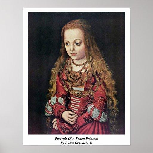 Retrato de una princesa sajona By Lucas Cranach (i Póster