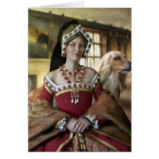 Retrato de una reina tarjeta de felicitación