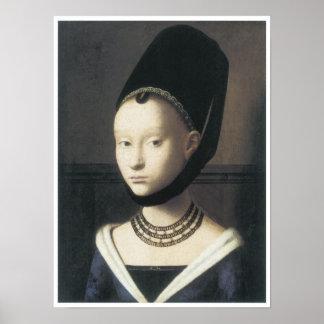 Retrato de una señora, 1470, Petrus Christus Póster