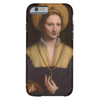 Retrato de una señora, 1520-1525 (aceite en el funda de iPhone 6 tough
