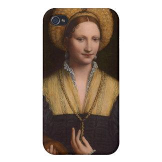 Retrato de una señora, 1520-1525 (aceite en el pan iPhone 4 carcasas