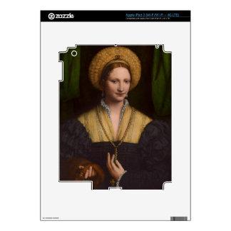 Retrato de una señora, 1520-1525 (aceite en el pan pegatina skin para iPad 3