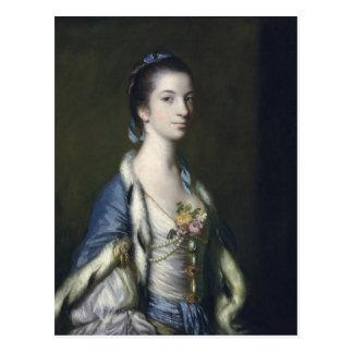 Retrato de una señora, 1758 postal