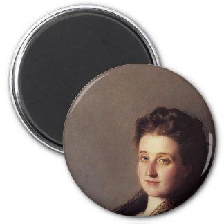 Retrato de una señora 1872 imán redondo 5 cm