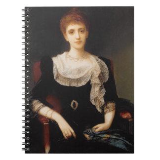 Retrato de una señora (aceite en lona) 2 libretas espirales