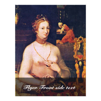 Retrato de una señora At Her Toilette, por Meister Tarjeta Publicitaria