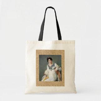 Retrato de una señora bolsas de mano