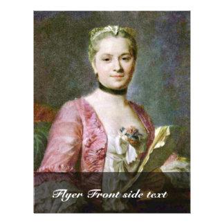 Retrato de una señora By Maurice Quentin de La Tou Flyer Personalizado