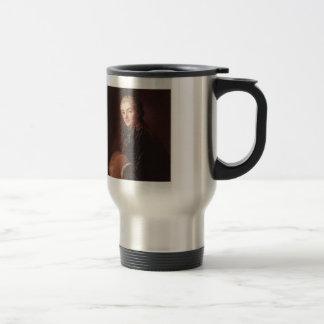 Retrato de una señora con el manguito de Francois  Tazas De Café