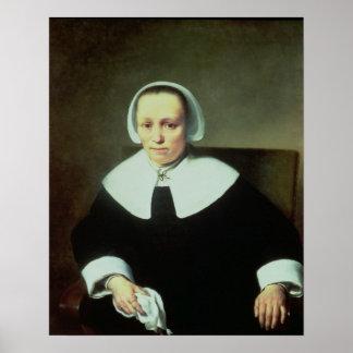 Retrato de una señora con no manual y los puños posters